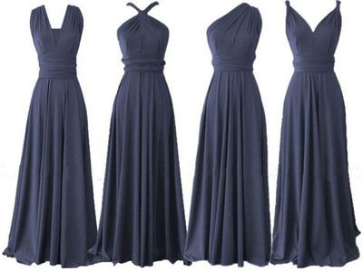long bridesmaid dresses, navy blue bridesmaid dress, convertible bridesmaid…
