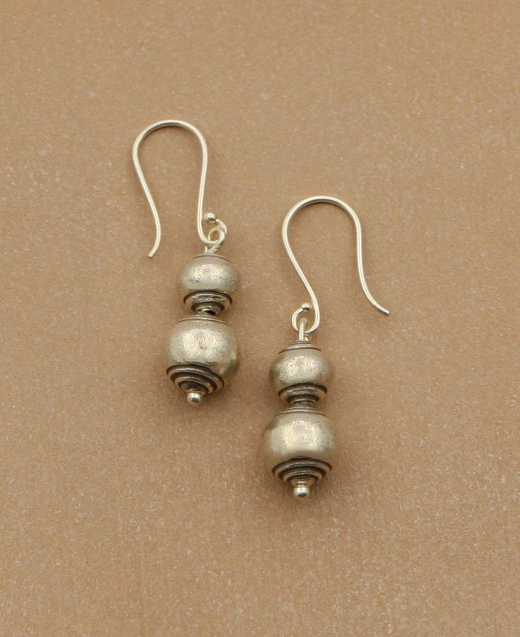 Hill Tribe Silver Lantern Earrings, Thailand