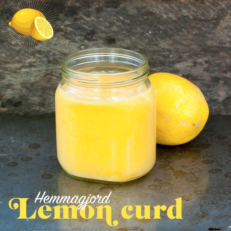Att göra egen lemon curd är verkligen busenkelt och så himla gott!