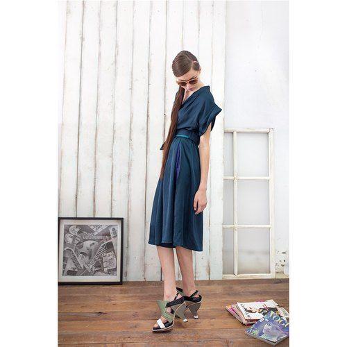 [歡慶開幕]湖水綠連身傘裙褲 Teal Jumpsuit (原價12800)