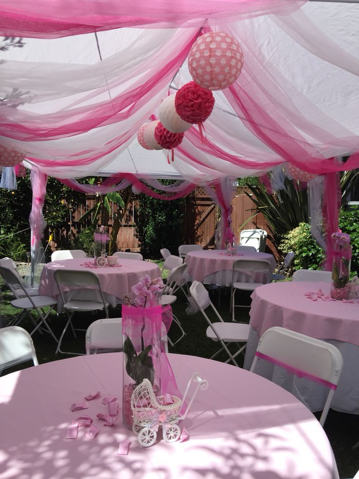 Tent decoration for my baby shower baby isabel for Baby shower canopy decoration
