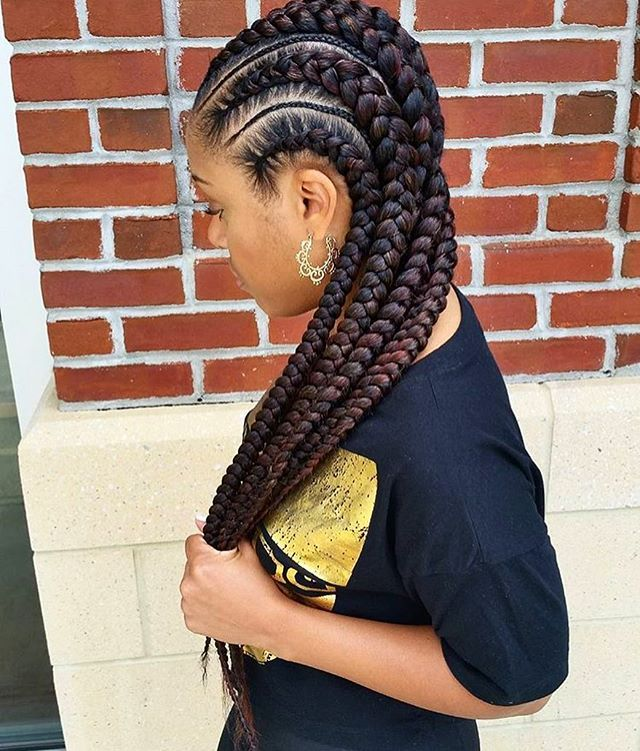 Gorgeous feed in braids by @mahoganii_couture.thestylist ❤️ @voiceofhair #voiceofhair #dmvbraider #summerstyle ========================== Go to VoiceOfHair.com ========================= Find hairstyles and hair tips! =========================