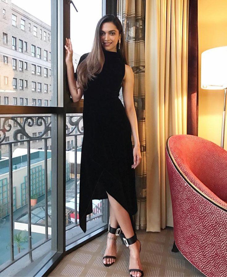 """Deepika Padukone in Los Angeles last night for "" Women in Film "" Party. Styled by…"""