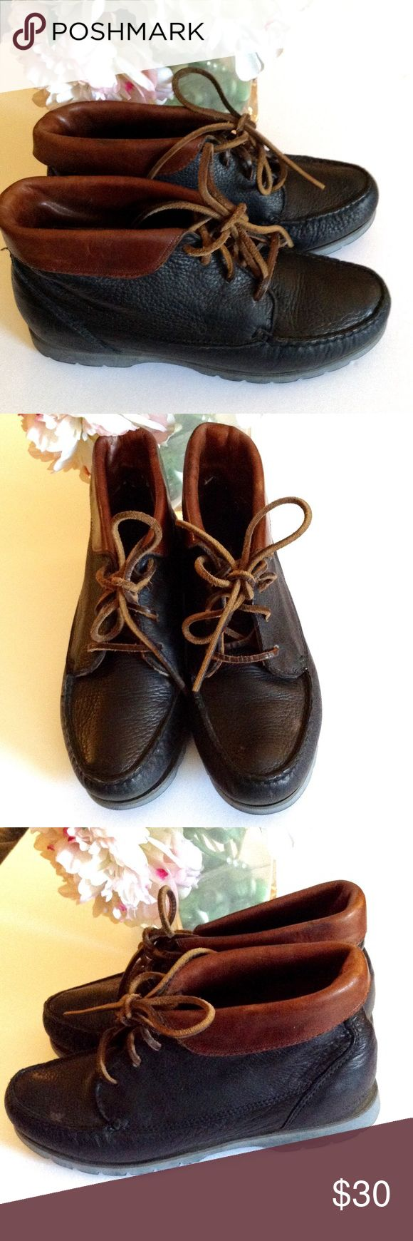 Vintage Timberland Ankle Boots - Waterproof EUC  They state they are waterproof  Minor wear Spot on top in photos has been removed Leather Timberland Shoes Ankle Boots & Booties