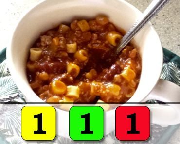 Crockpot Chili Mac | 1 Yellow | 1 Red | 1 Green || For more 21 Day Fix Recipes, visit fixapprovedforyou.com
