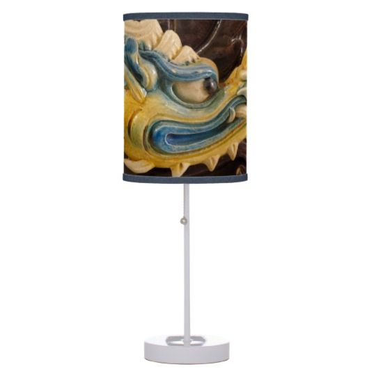 #zazzle #home #office #night #light #gift #giftidea #Chinese #Dragon #Table #Lamp