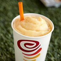 Jamba Juice Orange Dream Machine Smoothie is like an orange whip and vanilla ice cream flavored Orange Julius. This recipe will show you how to make one.