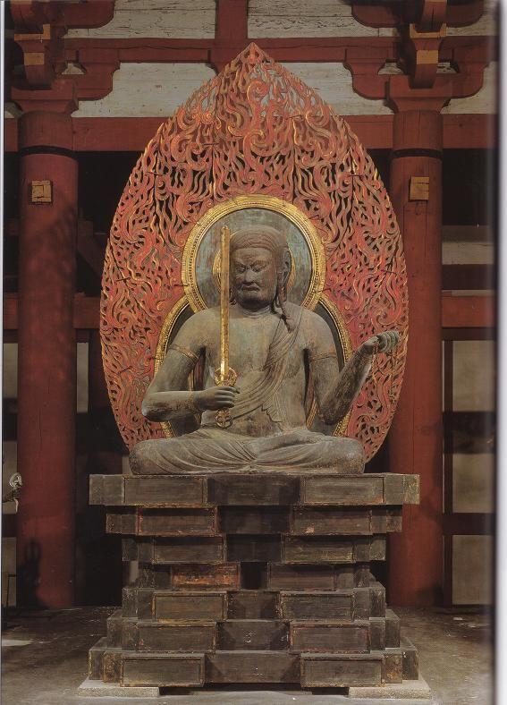 不動明王(東寺)座像 梵名アチャラ・ナータ अचलनाथ 五大明王の中心となる明王