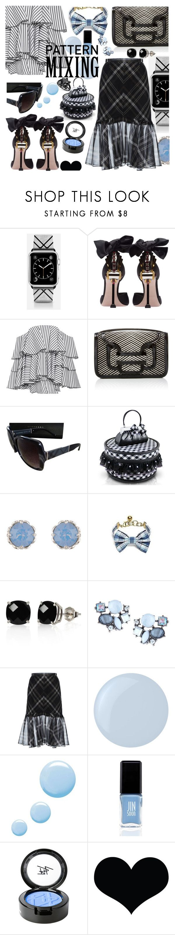 """Pattern Mixing"" by anin-kutak ❤ liked on Polyvore featuring Casetify, Miu Miu, Caroline Constas, Pierre Hardy, Burberry, Jacki Design, Accessorize, Brooks Brothers, Belk & Co. and Lydell NYC"