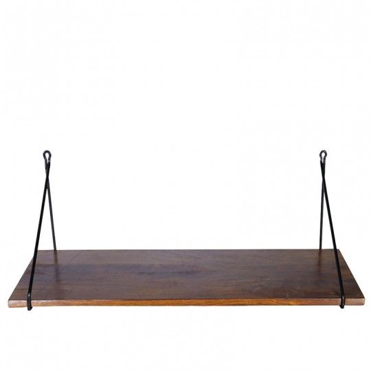 Półka wisząca drewno mango24x70 cm