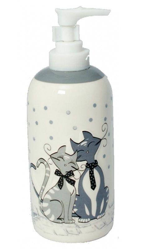 Distributeur de savon motifs chats, collection mistigris - Idéal pour décorer votre chez vous si vous êtes fans des chats ! #décoration #chat #savon