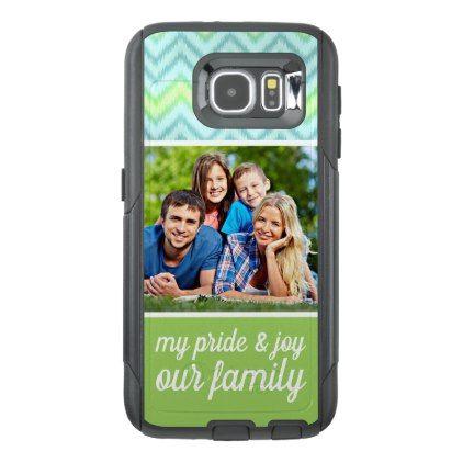 Custom Text Photo Artsy Trendy Hip Zig Zag Pattern OtterBox Samsung Galaxy S6 Case - template gifts custom diy customize