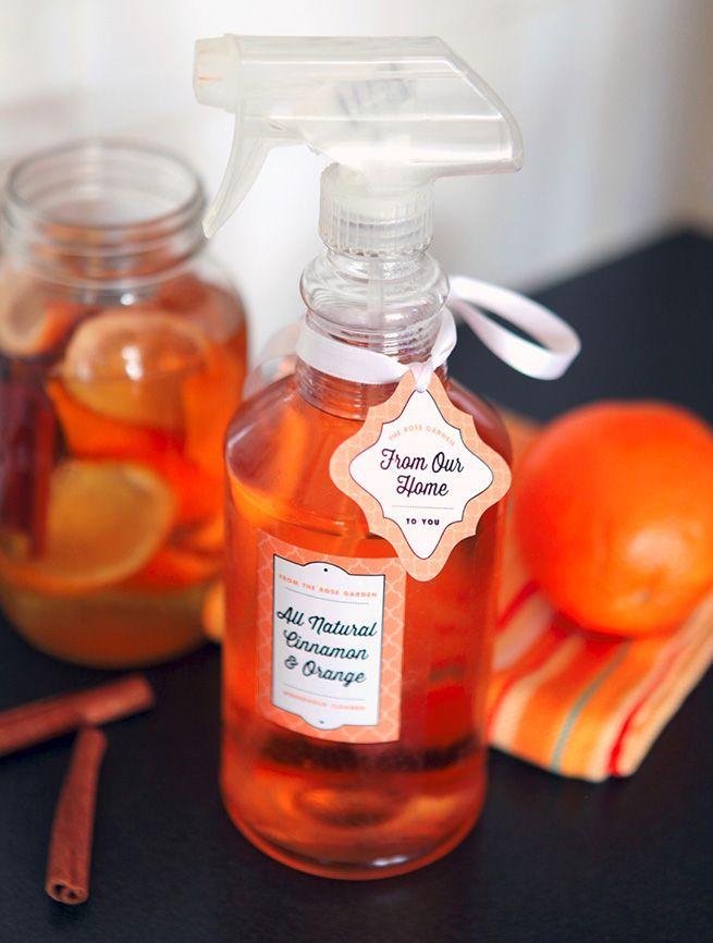 Nettoyant ménager naturel: Faire macérer des zeste d'oranges et de la cannelle dans du vinaigre blanc pendant 2 semaine dans un endroit sombre et froid. Filtrez le tout dans un pulvérisateur et utiliser le produit dans les 6 semaines suivantes.