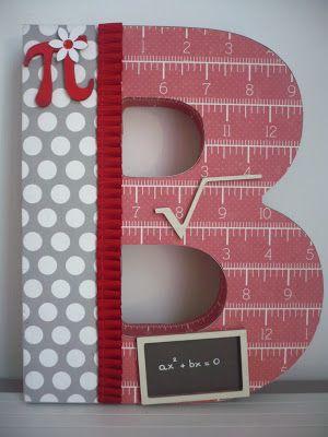 letras personalizadas scrapbooking para un REGALO ORIGINAL