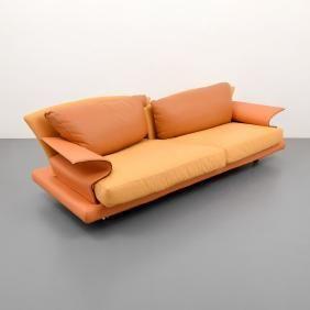 Lot 494 - Giorgio Saporiti SUPER ROY Sofa. Il Loft label Italy.