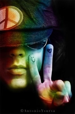 peace babyChase Rainbows, Life, Heart, Chances, Rainbows Colors, Happy, Peace Signs, Colors Peace, Hippie Chicks