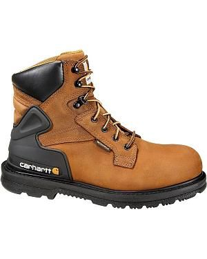 """Carhartt 6"""" Waterproof Lace-Up Work Boots - Round Toe: Carhartt boots are built to last for… #CowboyClothing #Westernwear #CowgirlBoots"""