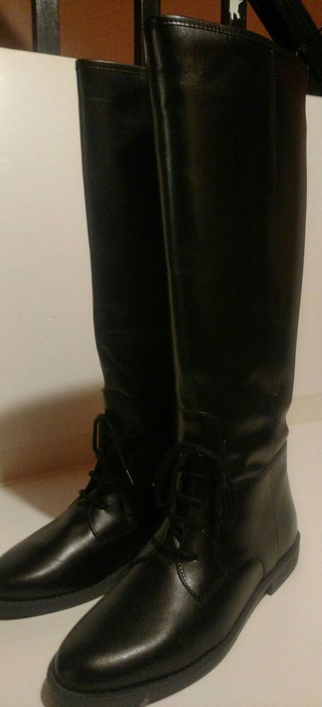 eb134734d310 Marc Alpert Black Leather Tall Riding Boots New Sizes 5.5M 6B 6.5  fashion   clothing  shoes  accessories  womensshoes  boots (ebay link)