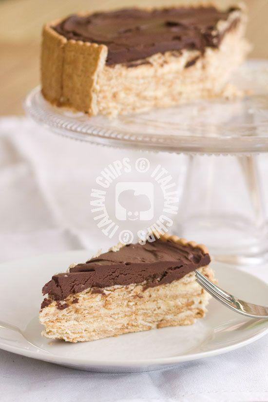 torta tedesca con biscotti secchi