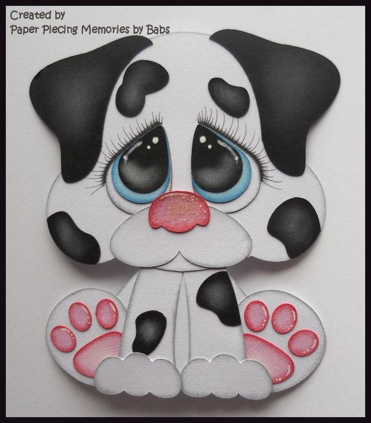 Dalmatian Puppy Premade Paper Piecing Die Cut for Scrapbook Page byBabs