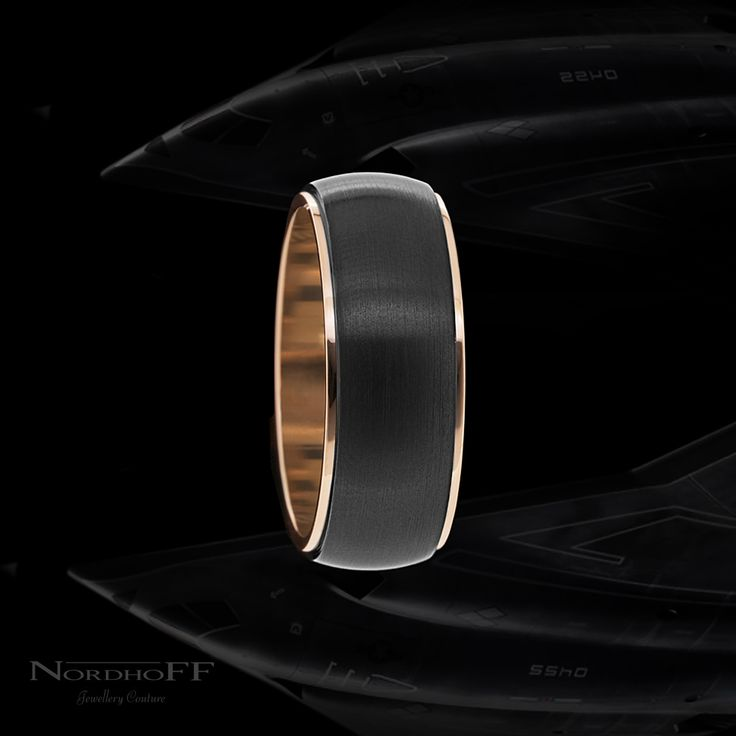 This material in its dioxide form is used as a thermal-barrier coating to insulate and protect engine components on jet turbines............. That's why we think this ring is the ultimate in stealth and our client agrees.