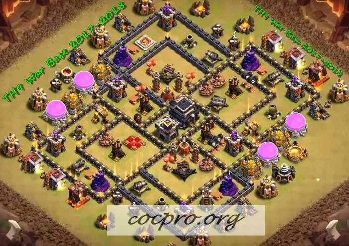 clash of clans best town hall 9 war base
