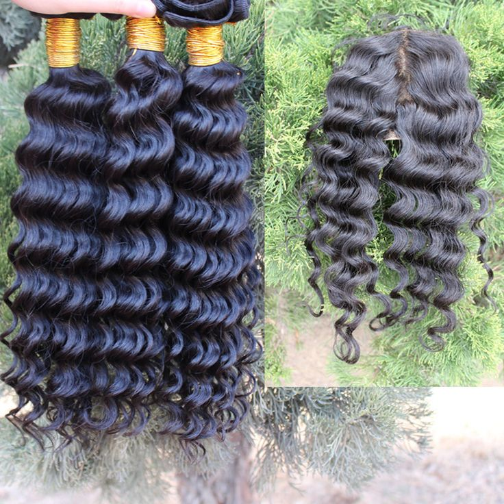 Free Shipping 3pc Cambodian Virgin Deep Wave Curly Hair