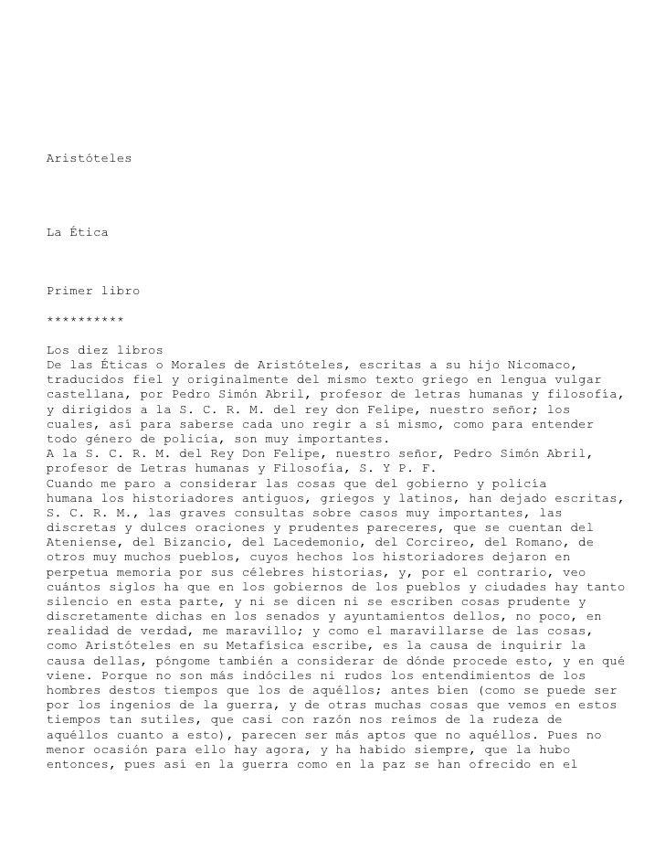 aristoteles-eticaanicomaco by Claudio Andres Gonzalez Illanes via Slideshare