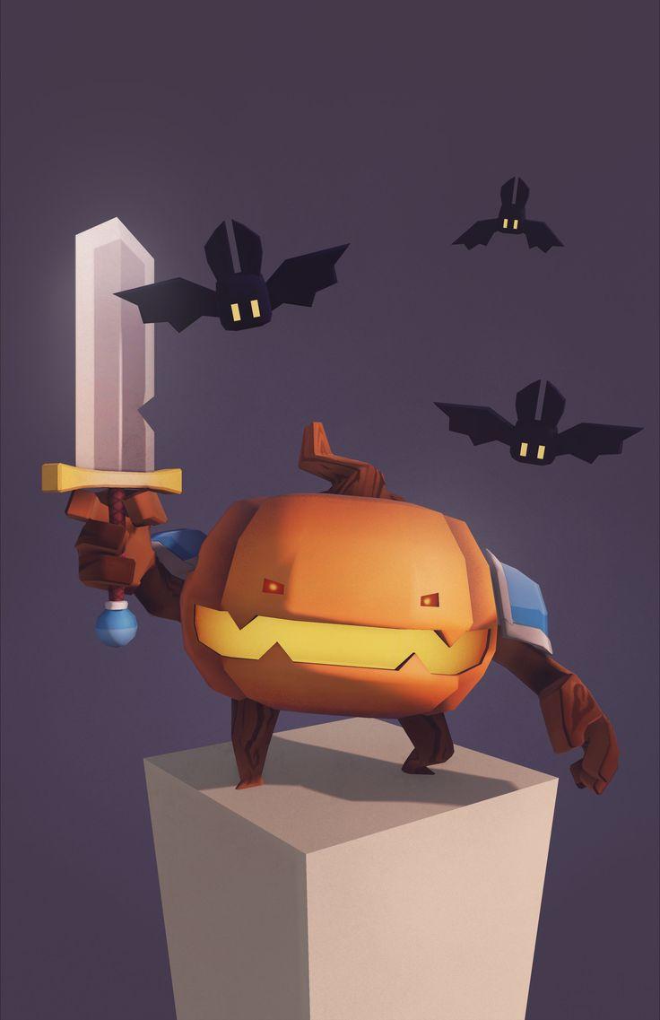 ArtStation - Pumpkin Knight, Gannon Jaspering