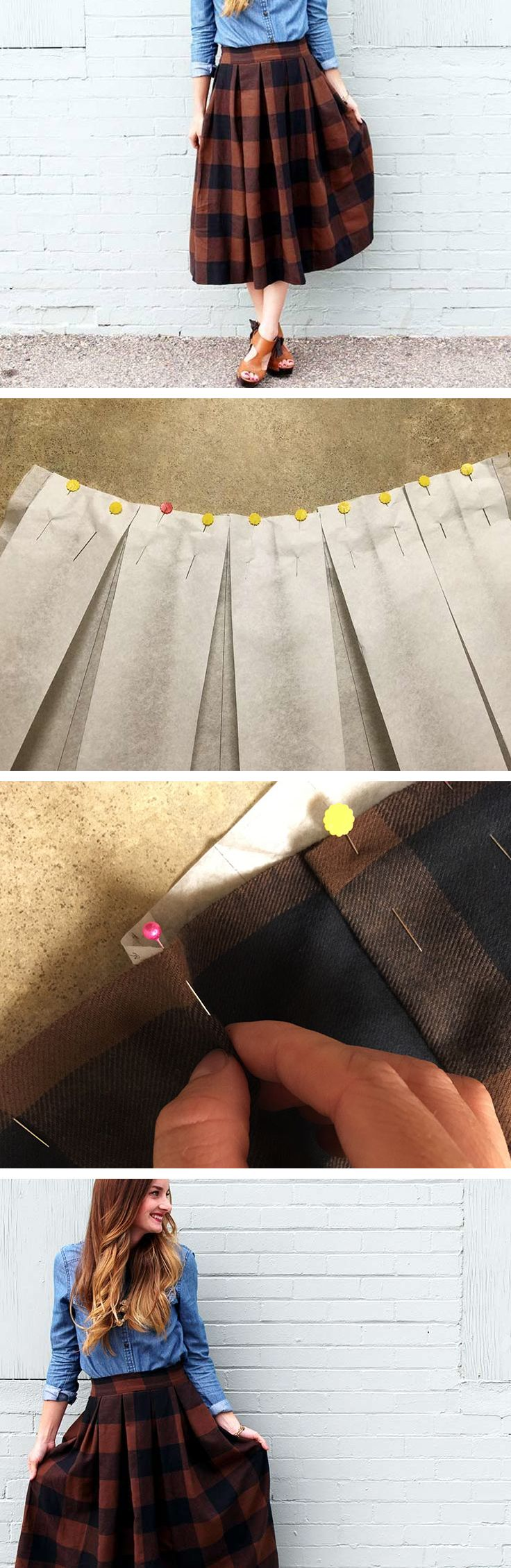 #tutoriel de #couture : Cousez vous-même votre jupe midi !