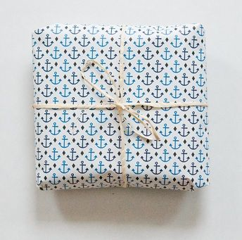 anchor gift wrapping paper