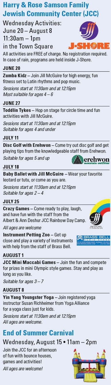 Wednesday Events in the Square!