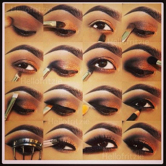 Step By Step Eye Makeup Pics My Collection Eyebrows