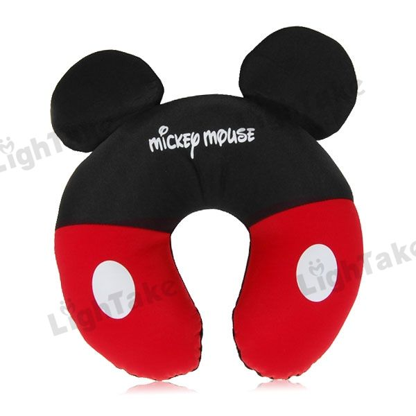 Super Comfortable Mickey Mouse Pattern Neck Pillow Cushion