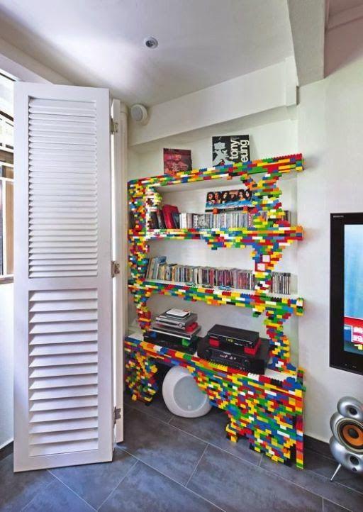 このレゴの棚オシャレ! #インテリア#レゴ#手作り