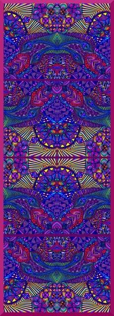 """Exótic Land (composición vertical)"" Composición digital del dibujo original ""Exótic Land"" realizado con rotuladores y bolígrafos de colores. http://www.sirenasinmar.blogspot.com"