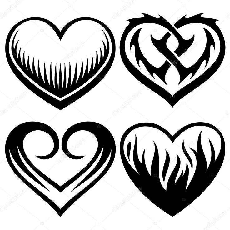 Tatuaggio cuori   Tatuaggio cuore, Tatuaggi tribali e Arte ...