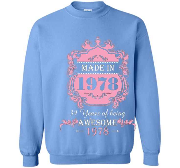 Made In 1978 T Shirt- 39 Years Old Shirt 39th Birthday Gift