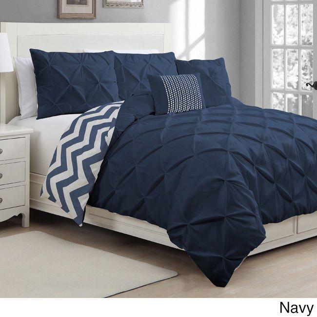 5-piece Duvet Reversible Cover Set Queen Full Bedroom Decor Ella Luxurios #AvondaleManor