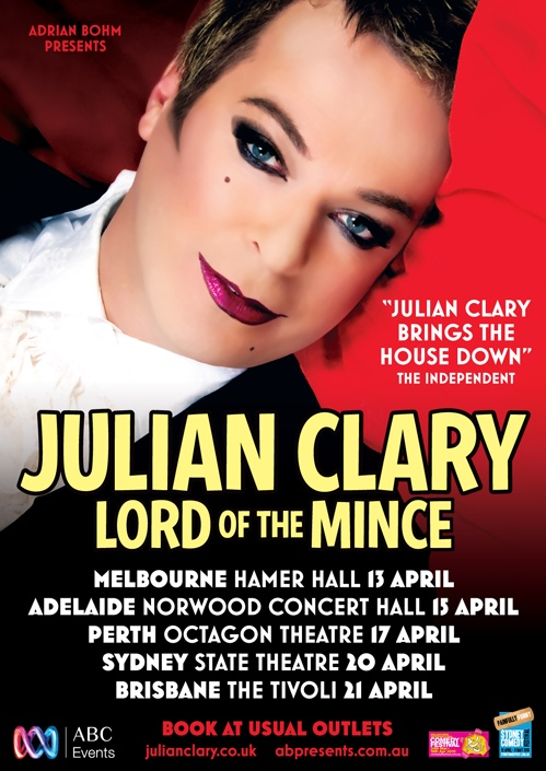 Julian Clary - 2010 'Lord of the Mince' Australian Tour    #standupcomedian