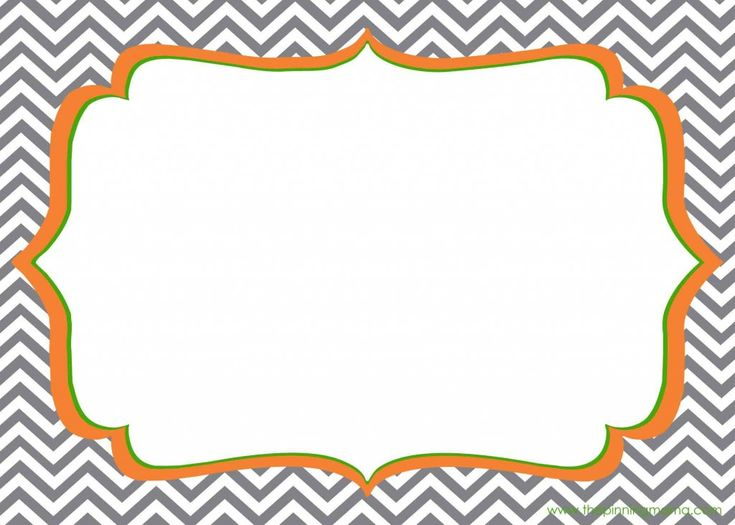Free printable chevron template.  Use it to make tags, invitations, thank you notes, stationary, place cards or anything else! by www.thepinningmama.com