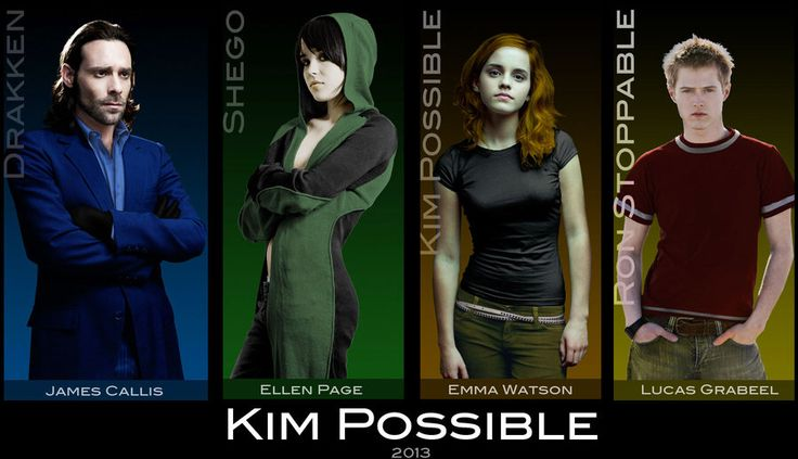 Kim Possible Cast by everyone92 on @DeviantArt