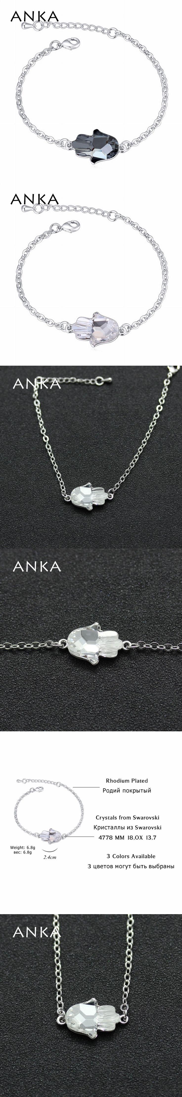 ANKA fatima hand crystal bracelet high quality charm jewelry gift Crystals from Swarovski originales 2017 for women #114553
