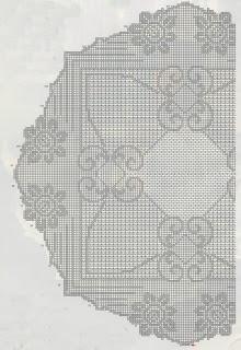 Schemi per il filet: Centro rotondo per il tavolino