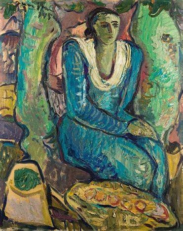 Lady in a Blue Dress by Irma Stern
