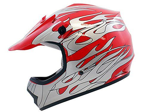 TMS Youth Kids Red Flame ATV Motocross Dirt Bike Off-Road MX Gear Helmet DOT (Large) - http://www.caraccessoriesonlinemarket.com/tms-youth-kids-red-flame-atv-motocross-dirt-bike-off-road-mx-gear-helmet-dot-large/  #Bike, #Dirt, #Flame, #Gear, #Helmet, #Kids, #Large, #Motocross, #Offroad, #Youth #Helmets, #Motorcycle