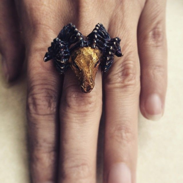 Symbol of new year! Ram ring. #ring #ram #jewellery #finejewellery #silver # sterlingsilwer #gold #goldplating #symbol #chinear #zodiac #creativityfound #fantastic #dbJewelStudio #mythology #handcrafted #handmade #vsco #vscocam #vscoaward
