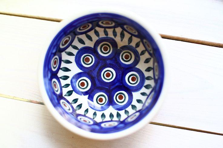 Пиала Павлиний глаз. #посударучнойработы #керамикаручнойработы #посуда #ceramics #pottery #polishpottery  ceramic tableware | pottery | polish pottery | boleslawiec | посуда | керамическая посуда | польская керамика  | польская посуда | болеславская керамика | керамика