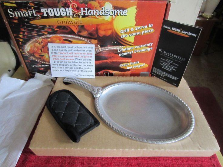 "Wilton Armetale Gourmet Grillware 15"" Sizzle Platter W/Handle Mitten~NEW~USA! #WiltonArmetale"