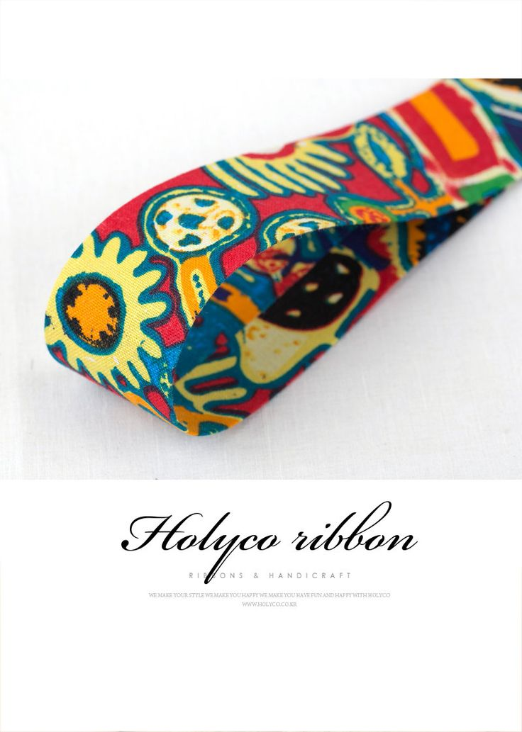 Colorful Aztec Patterns Fabric Ribbon / 2''(50mm) / made in korea by HOLYCO on Etsy